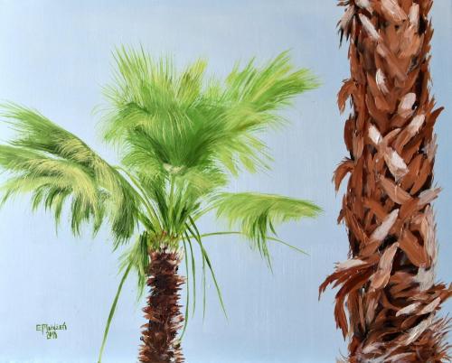 Palmy. 50x40 cm.