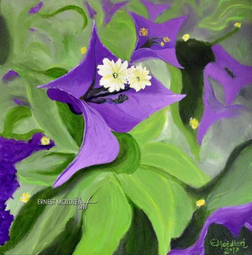 Kwiaty. 40x40 cm.