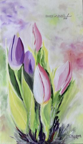 Tulipany. 30x50 cm.