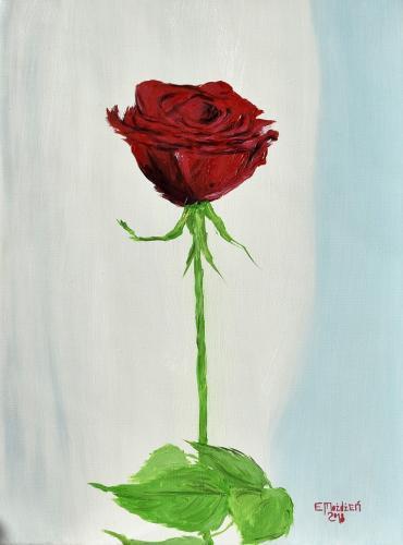 Róża. 30x40 cm.